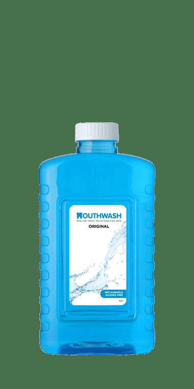 ústna voda Mouthwash bez alkoholu