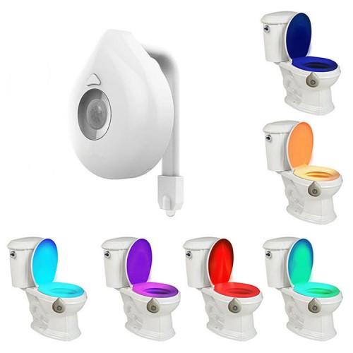 Nočné LED osvetlenie toalety
