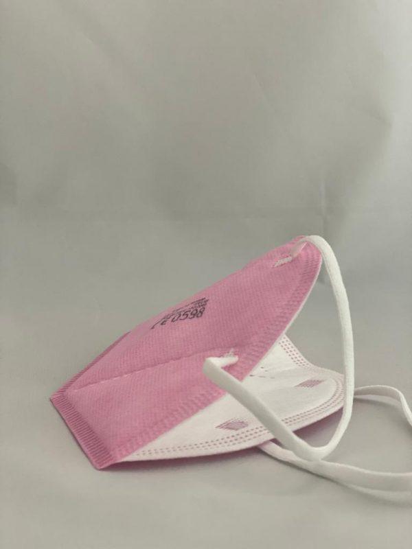 Respirator KN95 FFP2 ružový